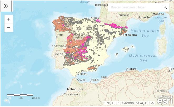 Mapa Del Radon En Espana.Sepr Mapa De Potencial De Radon En Espana