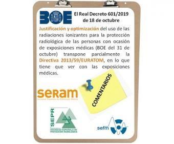 Comentarios y Posicionamiento SERAM-SEFM-SEPR al RD 601 2019 Justificacion